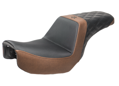 06-17 Dyna Brown & Black Diamond Seat