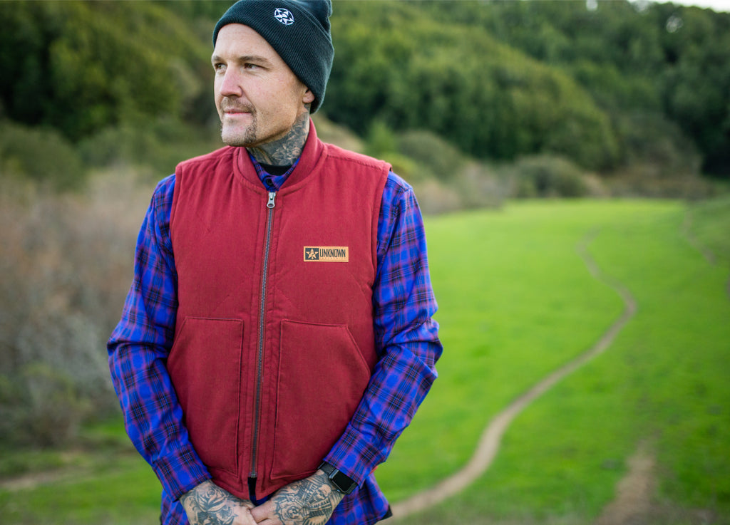 The Sportsman Maroon Vest