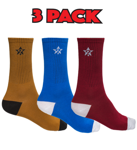 UNKNOWN 3 PACK (Gold, Blue & Maroon)