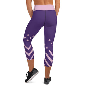 Violet and pink-ish Yoga Capri Leggings