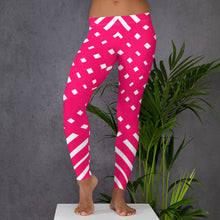 Load image into Gallery viewer, Pink and White Leggings