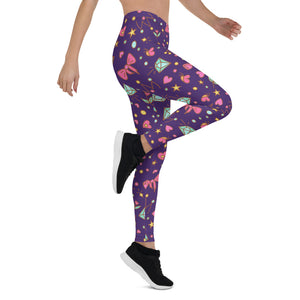 Violet Happy Leggings