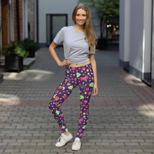 Load image into Gallery viewer, Purple Happy Leggings V2.