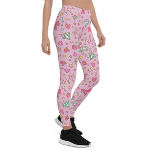 Rose pink Happy Leggings