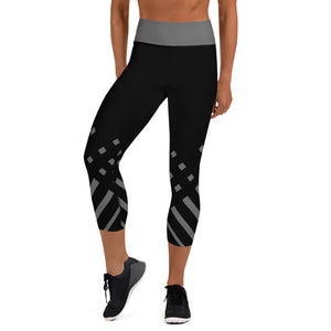 Black and gray Yoga Capri Leggings