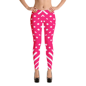 Pink and White Leggings