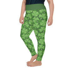 Load image into Gallery viewer, St.Patrick's day Green Clover All-Over Print Plus Size Leggings