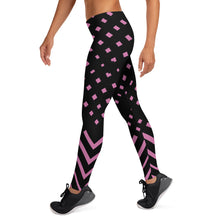 Load image into Gallery viewer, Black and Pink Leggings