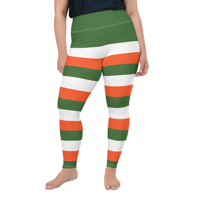 Irish flag colors Plus Size Leggings