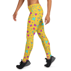 Yellow Happy Leggings V2.