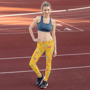 Yellow Happy Leggings