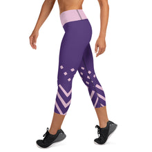 Load image into Gallery viewer, Violet and pink-ish Yoga Capri Leggings