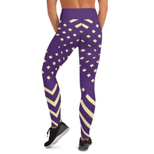 Load image into Gallery viewer, Violet and yellow-ish Yoga Leggings