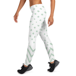 White and Green-ish Leggings