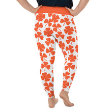 Load image into Gallery viewer, Orange Clover St. Paddy's All-Over Print Plus Size Leggings