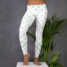Load image into Gallery viewer, White and Green-ish Leggings