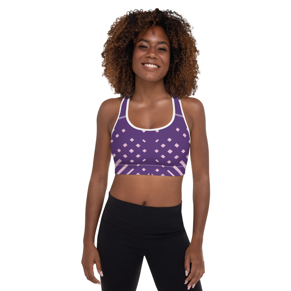 Violet and pink-ish Padded Sports Bra