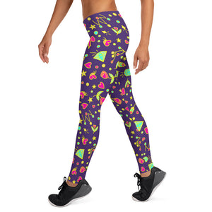 Purple Happy Leggings V2.