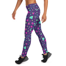 Load image into Gallery viewer, Purple Happy Leggings