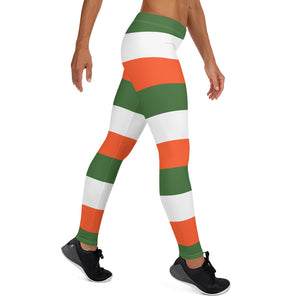 Striped Irish flag colors Women's Leggings