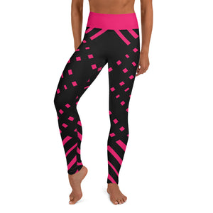 Black and happy pink High waist Yoga Leggings