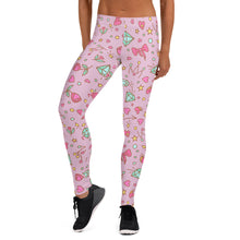 Load image into Gallery viewer, Rose pink Happy Leggings