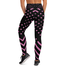 Load image into Gallery viewer, Black and pink Yoga Leggings