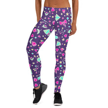 Load image into Gallery viewer, Violet Happy Leggings V2.