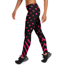 Load image into Gallery viewer, Black and happy pink Leggings