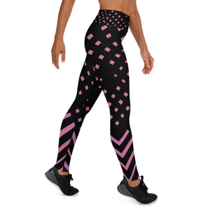 Black and pink Yoga Leggings