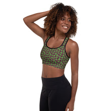 Load image into Gallery viewer, New St. Paddy's Clover Padded Sports Bra