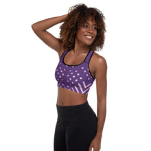 Load image into Gallery viewer, Violet and pink-ish Padded Sports Bra