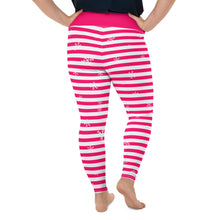 Load image into Gallery viewer, Pink Holiday All-Over Print Plus Size Leggings with Snowflakes