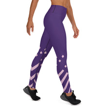 Load image into Gallery viewer, Violet and Pink-ish Yoga Leggings