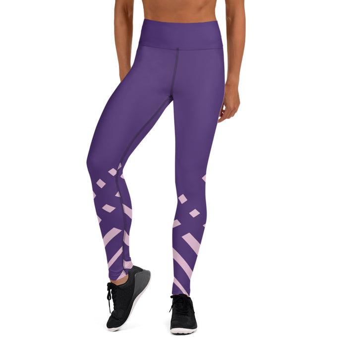 Violet and Pink-ish Yoga Leggings