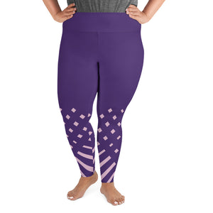 Violet and Pink-ish High waist Plus Size Yoga Leggings