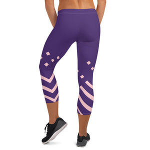 Violet and pink-ish Capri Leggings