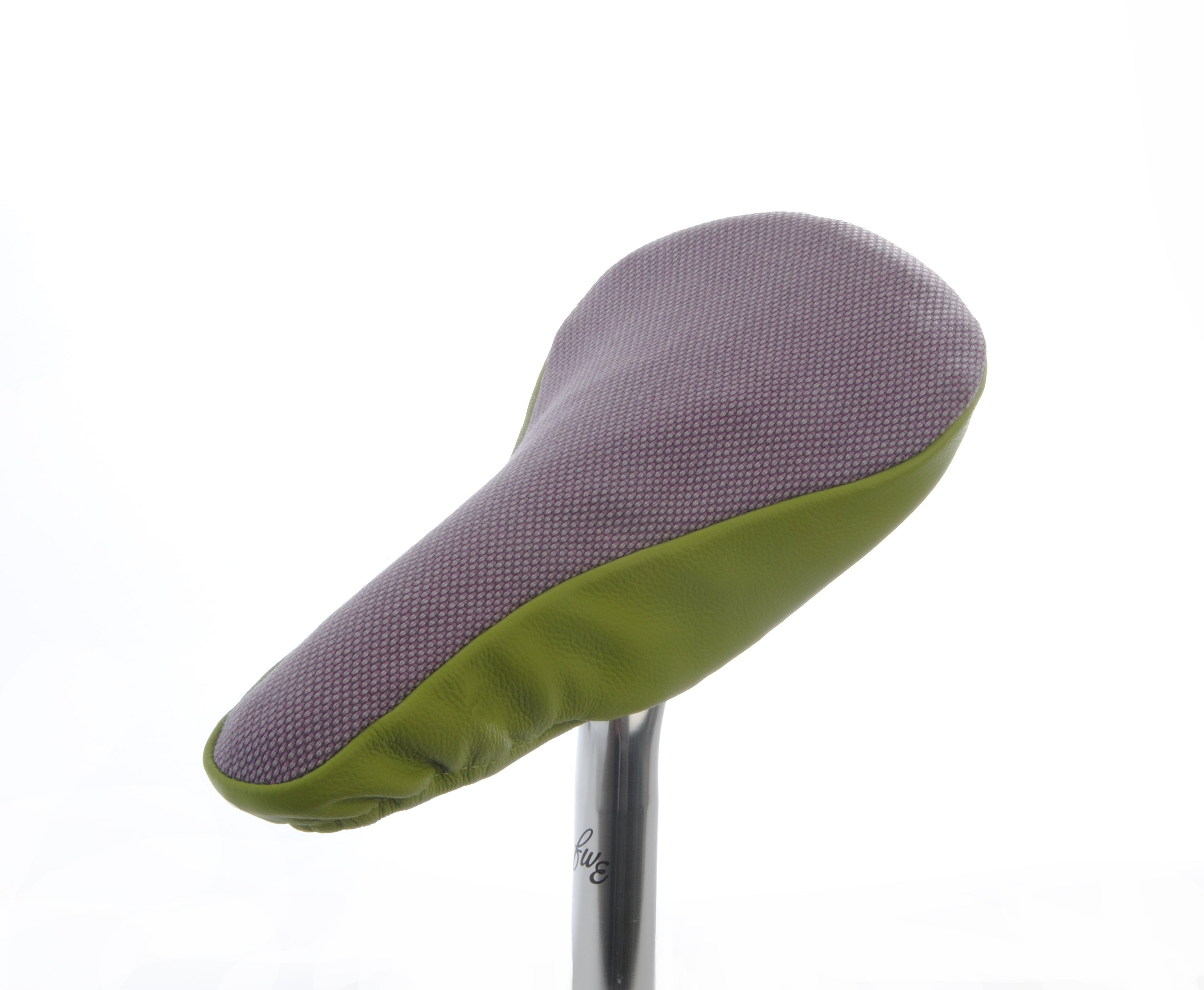 Lavender & Lime II Upcycled Saddle Cover