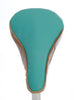 Tonic II Saddle Cover - Turquoise & Beige Leather