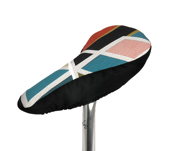 Black Swan Slim | Bicycle Saddle Cover | Sarah Morris Print
