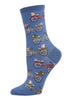 Socks - Blue with Bicycles - Ladies