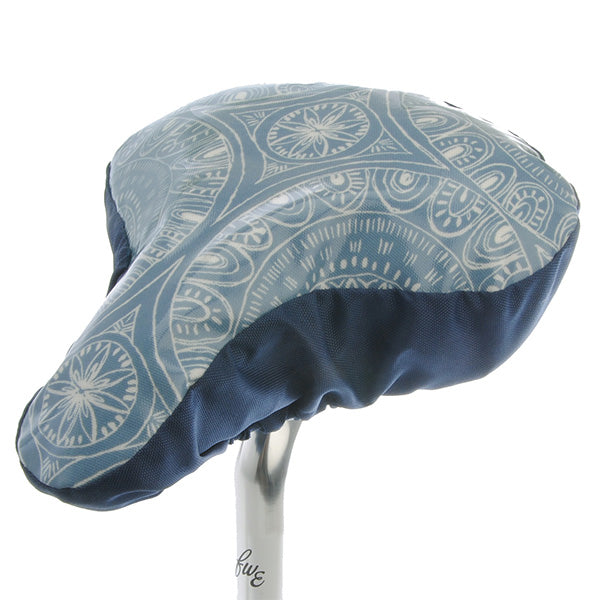 Circles Saddle Cover - Light Blue