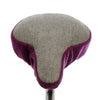 Grace Saddle Cover - Plum & Checked