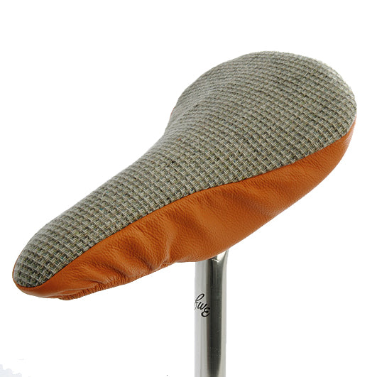 Kooki II Saddle Cover - Checked & Tangerine