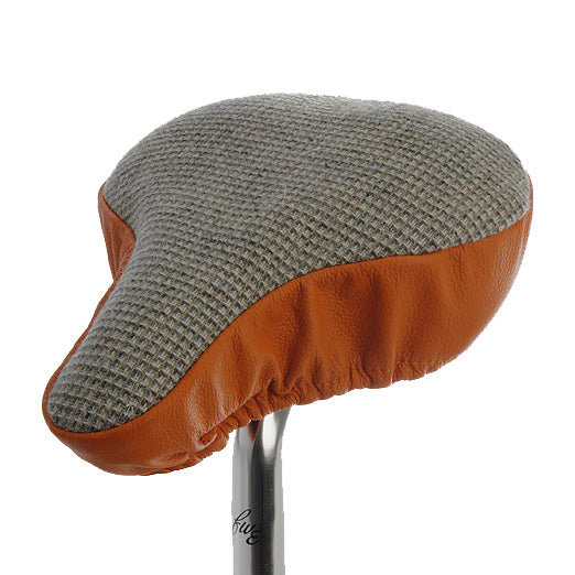 Kooki Saddle Cover - Checked & Tangerine