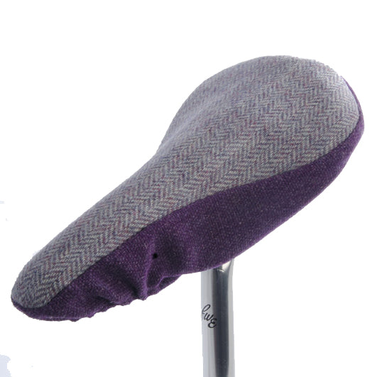 Nora Saddle Cover - Lavender Tweed