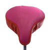 Plush Peach Saddle Cover - Pink & Orange