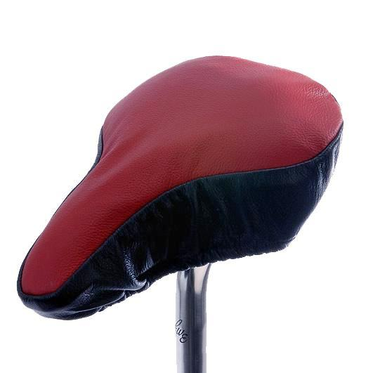 Prodigy Saddle Cover - Dark Red & Black Leather