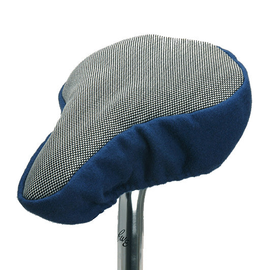 Steetcut Q Bike Seat Cover - Blue & Chequered