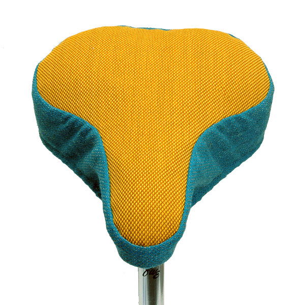 Roderick Bike Seat Cover - Mustard & Blue
